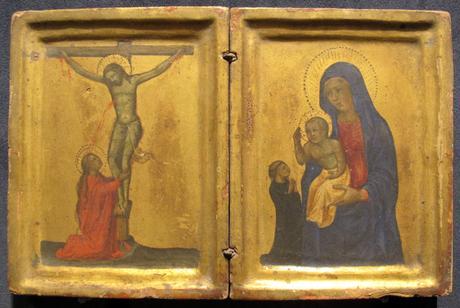 1400-49 Ventura di Moro attr Cristo crocifisso con santa Maria Maddalena, Madonna con Bambino e donatore Capodimonte, Napoli