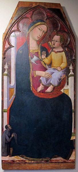 1390 Vanni Andrea, Madonna con Bambino in trono e donatore Chiesa di S. Spirito, Siena