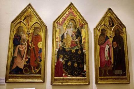 1425-74 Cristoforo di Giovanni da Sanseverino, Andrea, Michele , GianBattista, Saba, Museo Piersanti, Matelica cardinale Brancaccio