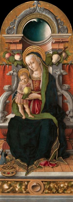 1470 ca Crivelli_Madonna_and_Child_Enthroned_with_a_DonorNGA
