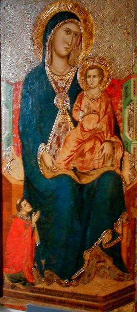 1325 Lello da Orvieto with donor presbitero Rainaldo Cathedral of Anagni