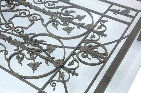 iron gate coffee table iron gate coffee table lovely antique french iron gate coffee table large scale for sale at construction