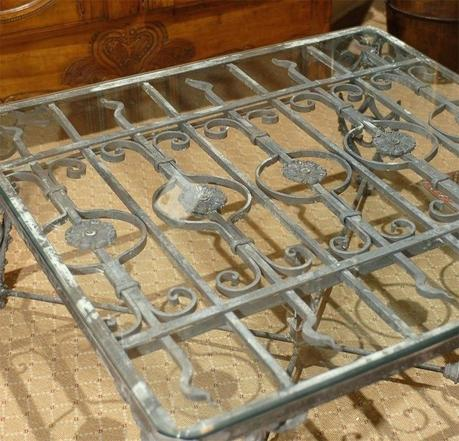 iron gate coffee table french antique iron gate made into coffee table for sale