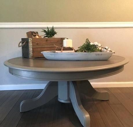 iron gate coffee table grey farmhouse pedestal coffee table