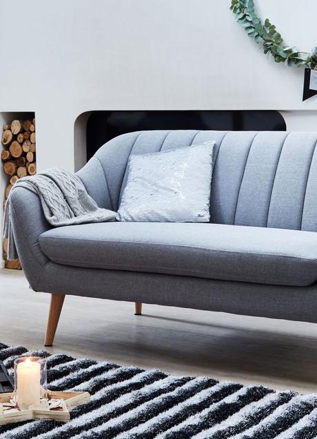 canapé coquillage shell sofa art déco tissu salon scandinave - blog déco - clem around the corner