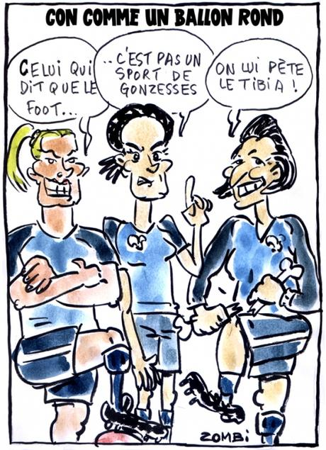 webzine,bd,gratuit,zébra,fanzine,bande-dessinée,caricature,wendy renard,sarah bouhaddi,eugénie le sommer,foot,féminin,coupe du monde,2019,ballon rond,dessin,presse,satirique,editorial cartoon,zombi