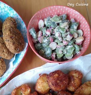 Salade fèves & radis - Ottolenghi