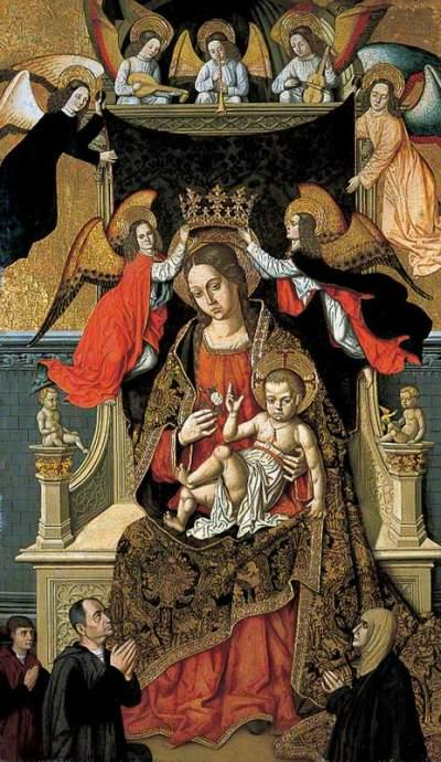 Master of Castelsardo, active c.1475-c.1525; The Virgin and Child with Angels and Donors