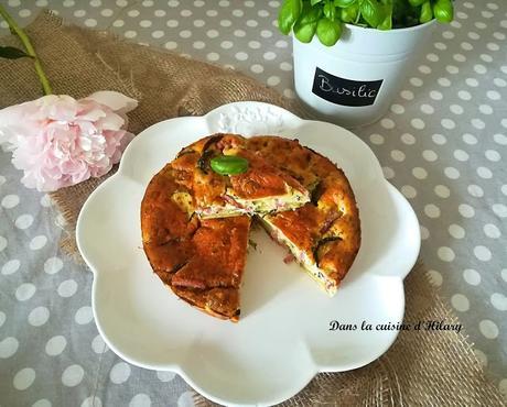 Clafoutis aux courgettes, chèvre et bacon pour un plat d'été savoureux