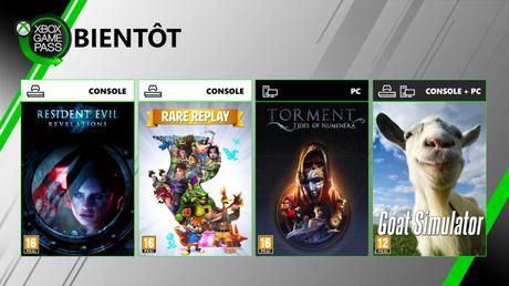 Xbox Game Pass – Quatre nouveaux jeux en approche