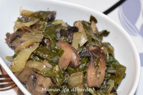 Poêlée de blettes et champignons