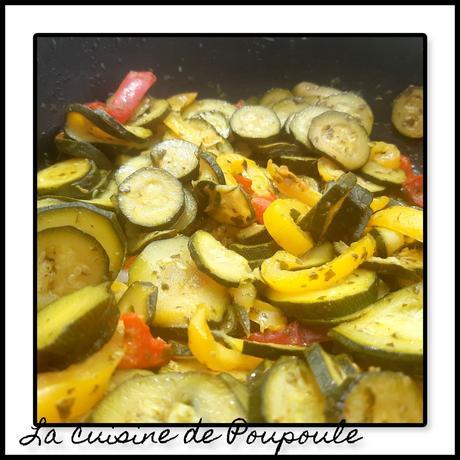 Poêlée de Courgettes et poivrons au pesto