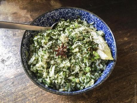 Indianisant – Riz aux épinards (Palak rice)
