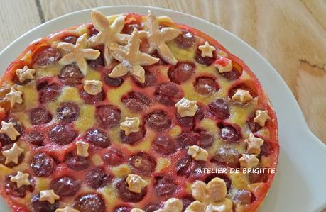 Tarte prunes et semoule fine