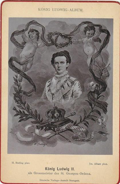 Le roi Louis II de Bavière peint par H. Breling en Grand Maître de l'Ordre de Saint-Georges