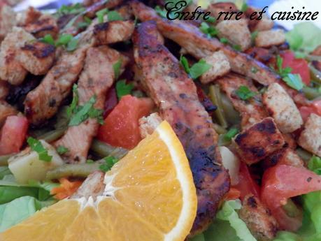 Salade de poulet mariné à l'orange
