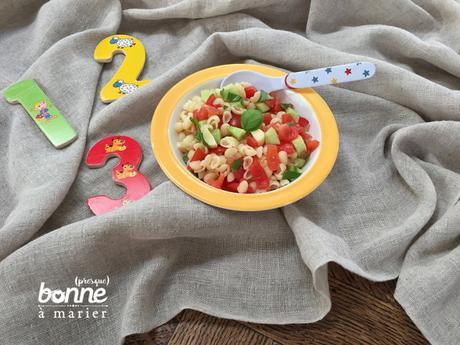 Salade de petites pâtes au Babybel dès 12-18 mois