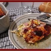 Clafoutis de Courgettes au Bacon et Chorizo - Oh, la gourmande..