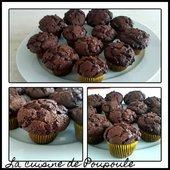 Muffins corsés au chocolat - La cuisine de poupoule