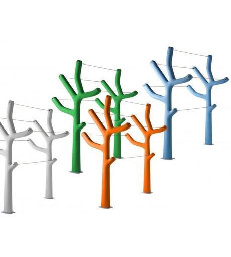 étendre son linge extérieur design étendoir à linge casamania arbre - blog déco - clem around the corner