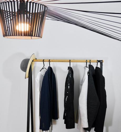 tancarville design etendre son linge avec style penderie ouverte lampe vertigo déco - Clem around the corner