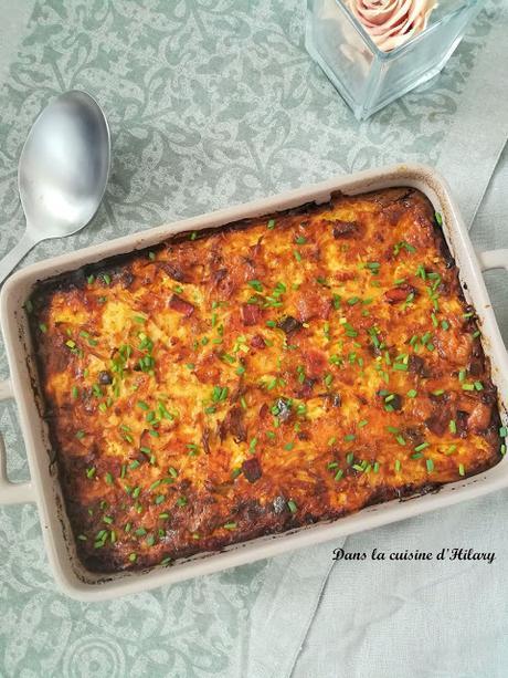 Egg casserole ou la nouvelle façon de cuisiner les oeufs et le bacon pour le brunch