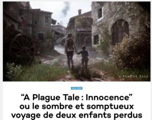"""A Plague Tale: Innocence"""" ou le sombre et somptueux voyage de deux enfants perdus"""