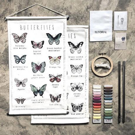Numéro 74 kit broderie papillons
