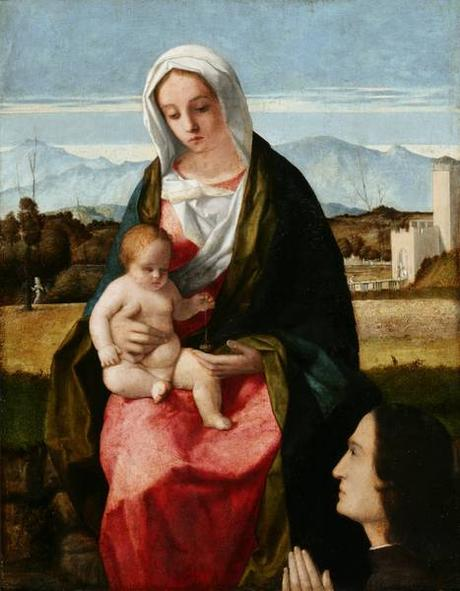 VD 1505 Bellini_Madonna_and_Child donor musee national de Poznan