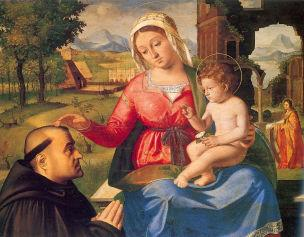 _VD 1510 Andrea Previtali The Virgin and Child with a Donor National Gallery
