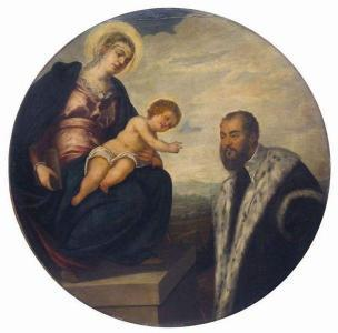 VD 1524 tintoretto virgin child donor National Museum of Serbia, Belgrade