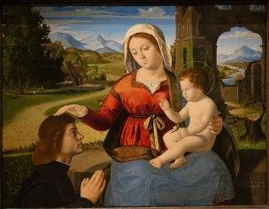 _VD 1500 -20 Andrea Previtali The Virgin and Child with a Donor Wadsworth Atheneum, Hartford