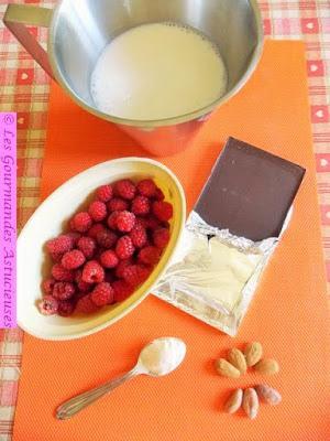 Crème Vegan au chocolat et aux framboises