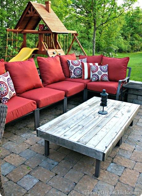 coffee table outdoor outdoor ottoman table