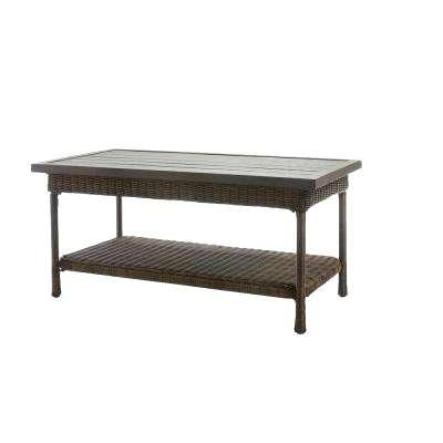coffee table outdoor beacon park wicker outdoor coffee table with slat top