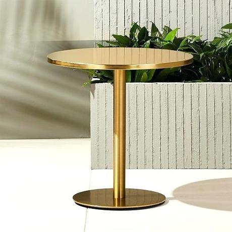coffee table outdoor watermark brass bistro table