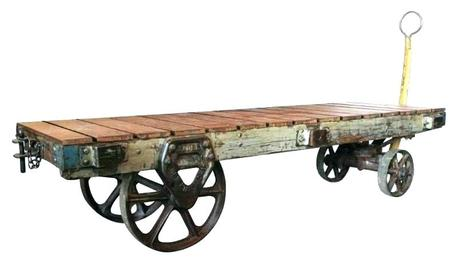 industrial coffee table cart antique factory cart industrial coffee table vintage good things p