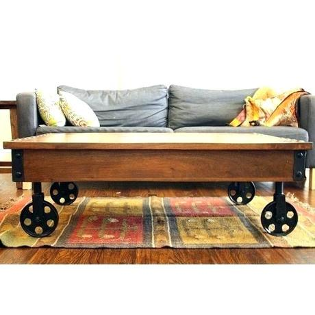 industrial coffee table cart related post