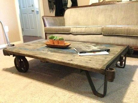 industrial coffee table cart sold vintage industrial cart refurbished as a by supplies resale vintage industrial industrial cart coffee table