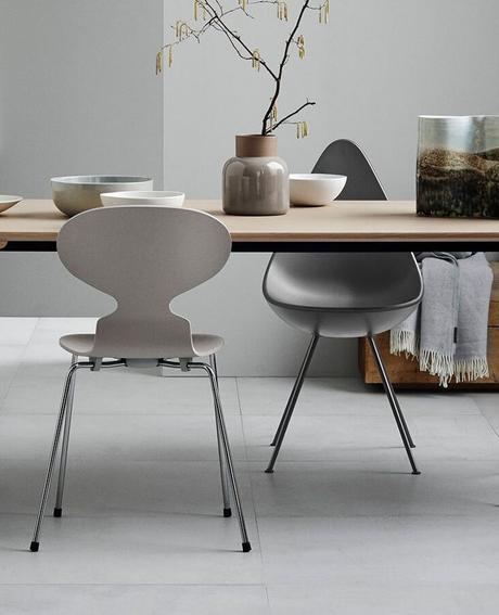 chaise fourmi d'Arne Jacobsen design assortiment assise - blog déco - clem around the corner