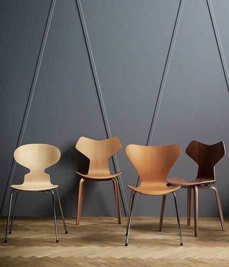 chaise fourmi d'Arne Jacobsen grand prix design danois scandinave - blog déco - clem around the corner