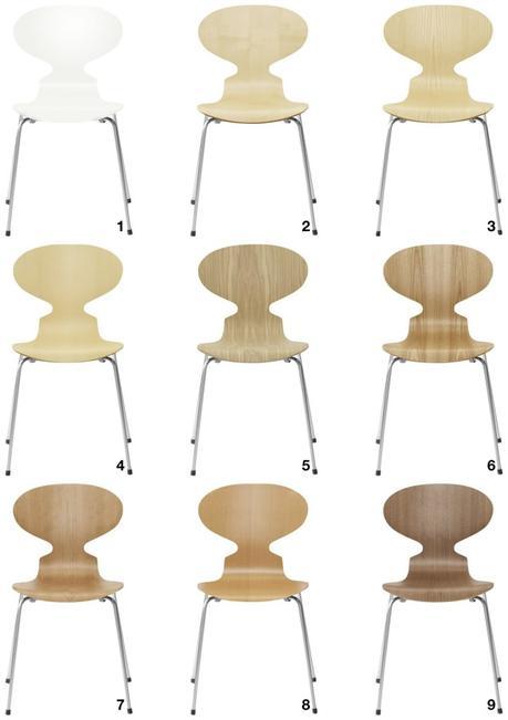 chaise fourmi d'Arne Jacobsen quatre pieds couleur bois clair - blog déco - clem around the corner