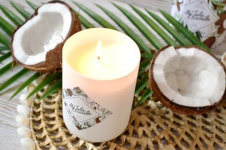 Fresh Coconut, une bougie qui sent bon l'été par My Jolie Candle