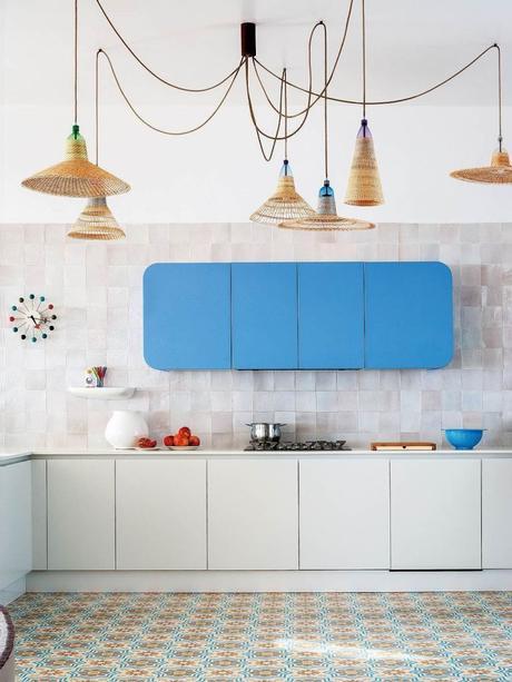 cuisine bleue meuble original - blog déco - clem around the corner