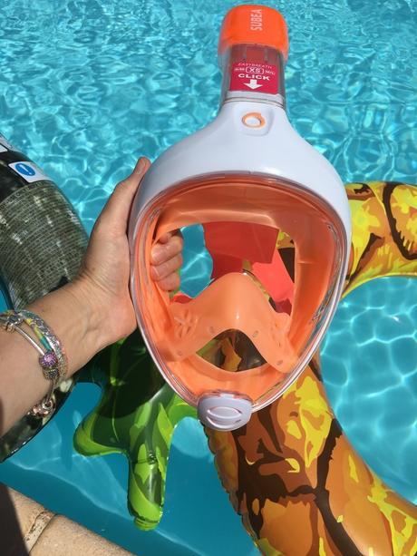 Zoom sur le masque de Snorkeling en surface Easybreath Junior - SUBEA