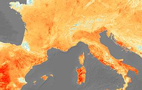 European heatwave, June 2019, satellite image - Copyright: EUROPEAN SPACE AGENCY / SCIENCE PHOTO LIBRARY