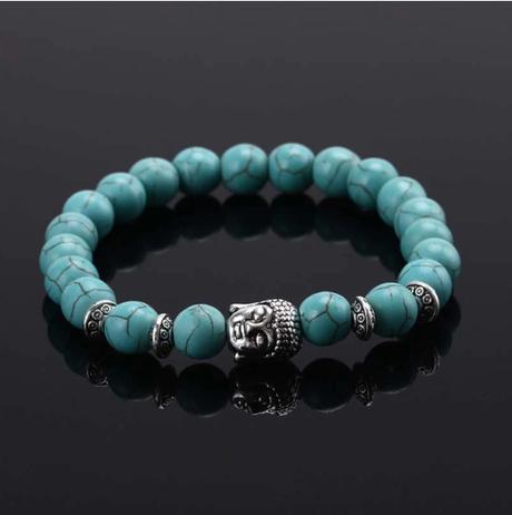 Bracelet bouddha en turquoise