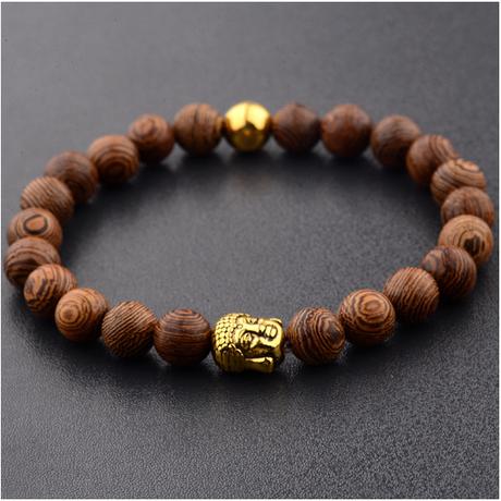 bracelet bouddha en bois