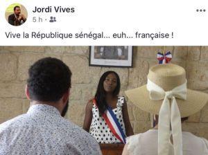 le militant identitaire Jordi Vives de Lengadoc Infos insulte une élue noire #racisme #Montpellier