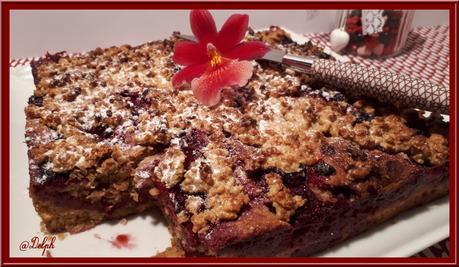 Gâteau aux framboises et flocons d'avoine